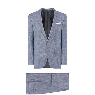 Hutsons Single-Breasted Flecked Suit