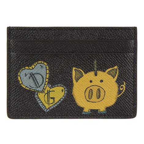 Dauphin Pig Bank Card Holder, ${color}