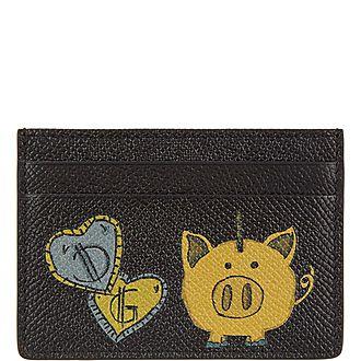 Dauphin Pig Bank Card Holder