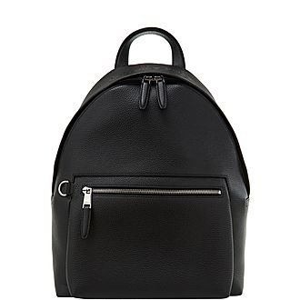 Grained Zip Backpack