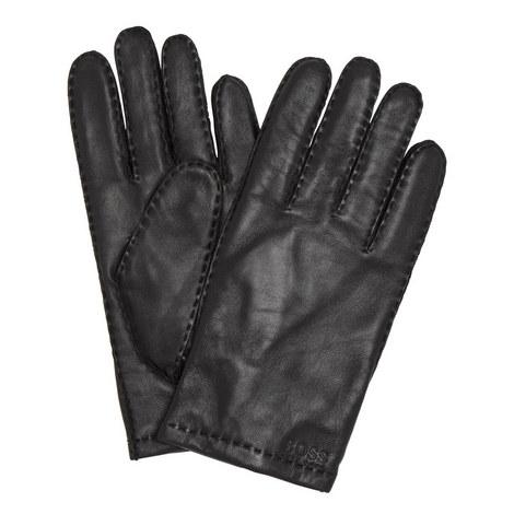 Logo Leather Gloves, ${color}