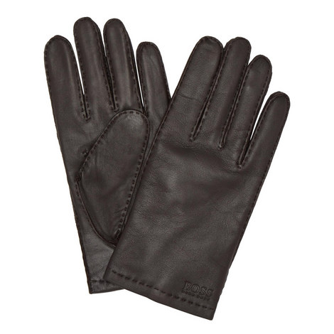 Logo Leather Gloves, ${color}