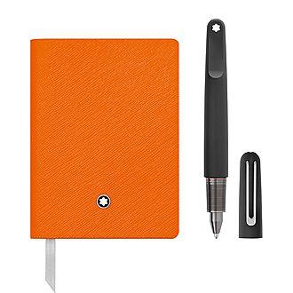 Montblanc M Ultra Ballpoint Pen & Lined Notebook #145 Gift Set