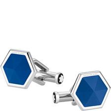 Hexagonal Faceted Agate Cufflinks