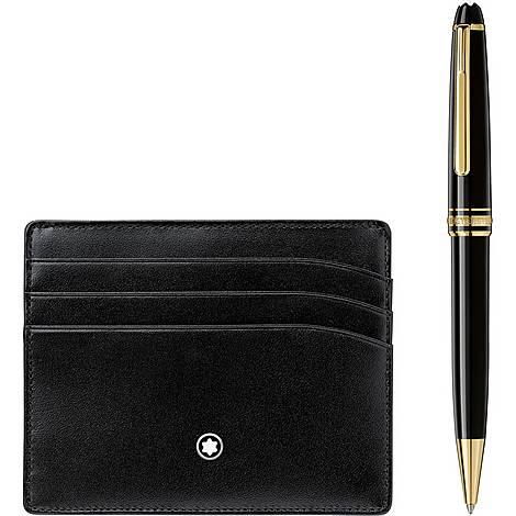 3af44ba5683b2 Meisterstück Classique Ballpoint Pen & Black Pocket Holder 6cc Set, ...