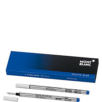 2 Fineliner Refills (M) Pacific Blue