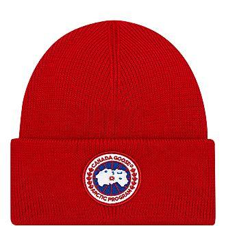 Logo Patch Wool Beanie Hat