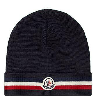 Striped Cuff Beanie Hat