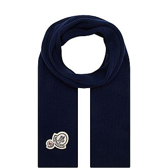 Double Badge Wool Scarf