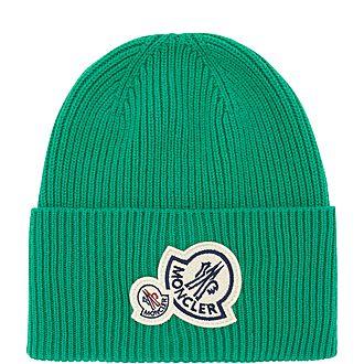 Double Badge Beanie Hat