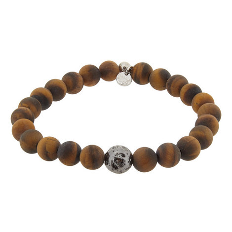 Tiger Eye Bead Bracelet, ${color}