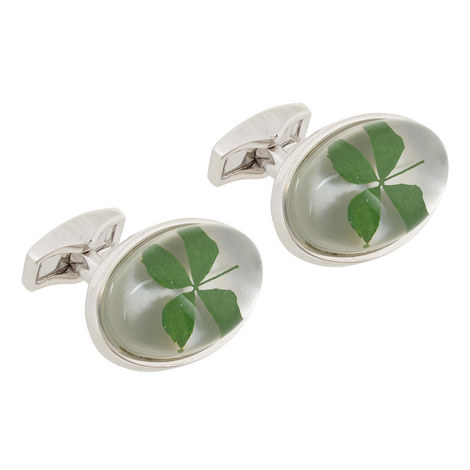 Clover Resin Cufflinks, ${color}