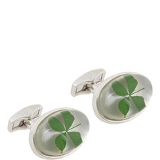 Clover Resin Cufflinks