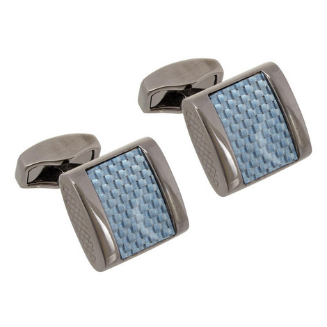Rectangular Weave Cufflinks, ${color}