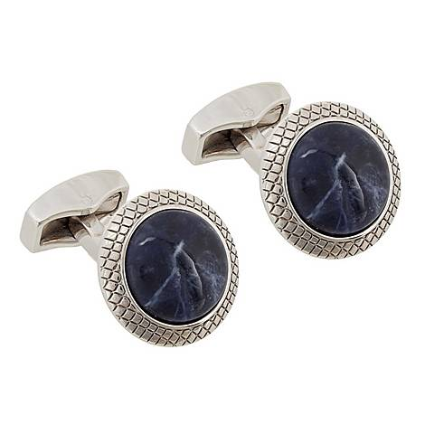 Round Marble Cufflinks, ${color}