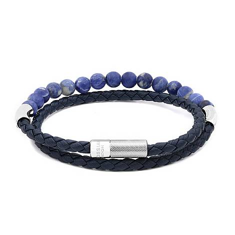 Leather and Bead Combo Bracelet, ${color}