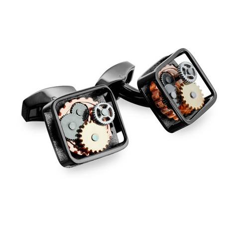 Square Gears Cufflinks, ${color}