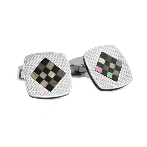 Checkerboard Cufflinks, ${color}