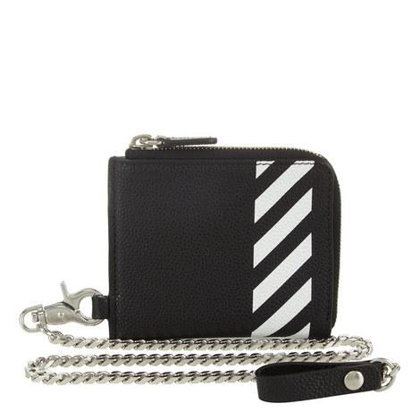 Diagonal Line Chain Wallet, ${color}