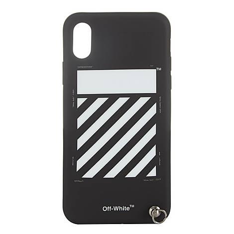Diagonal Line iPhone X Case, ${color}
