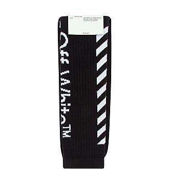 Diagonal Logo Stripes Socks