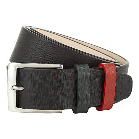 Grained Leather Belt, ${color}