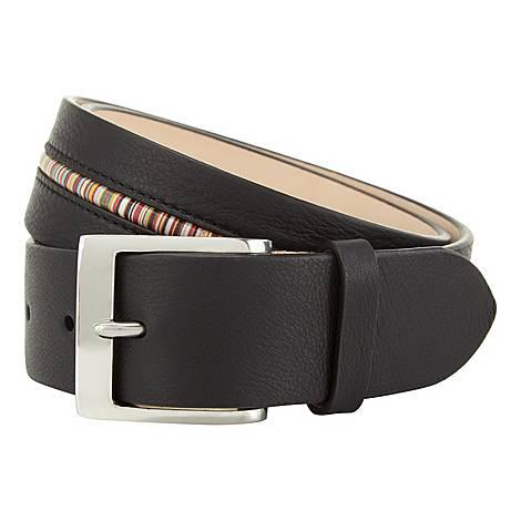 Striped Leather Belt, ${color}