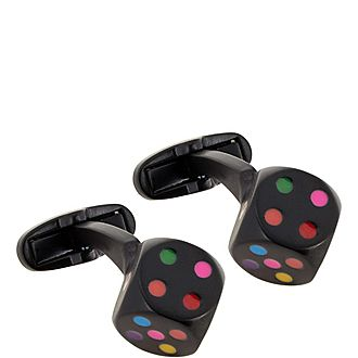 Multicolour Dice Cufflinks