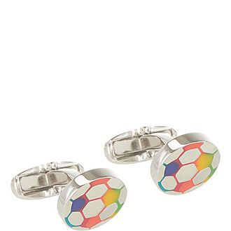 Coloured Football Cufflinks