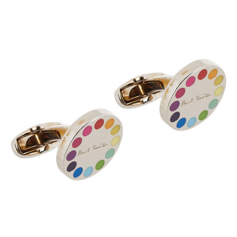 Circular Rainbow Cufflinks, ${color}