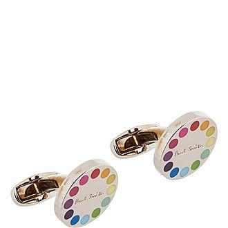Circular Rainbow Cufflinks