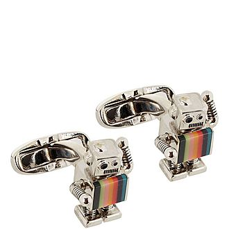 Multi-Coloured Robot Cufflinks