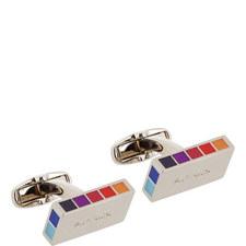 Rectangular Rainbow Cufflinks