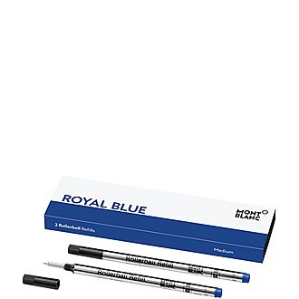 Set of Two Rollerball Refills in Royal Blue