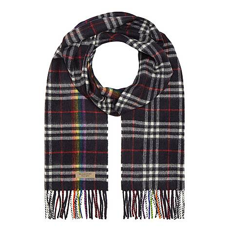 Rainbow Check Cashmere Scarf, ${color}