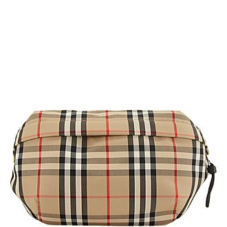 Sonny Vintage Check Belt Bag