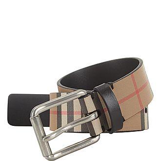 Vintage Check Leather Belt