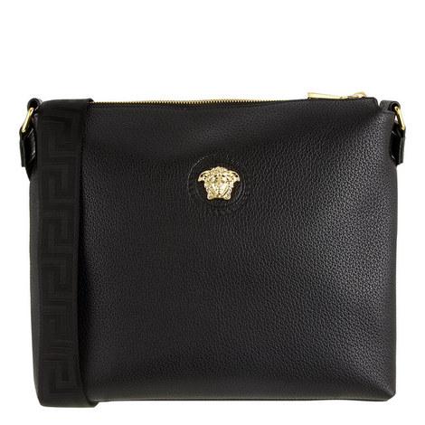 Medusa Leather Crossbody Bag, ${color}
