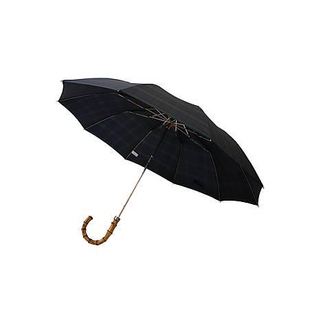 Whangee Cane Crook Tartan Umbrella, ${color}