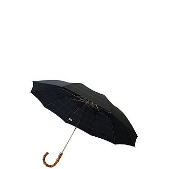 Whangee Cane Crook Tartan Umbrella
