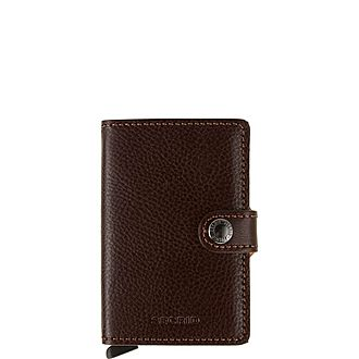 Pebbled Leather Mini Wallet