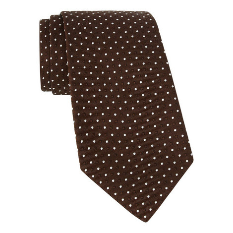 Tonal Dot Silk Tie, ${color}