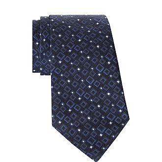 Geometric Square Tie