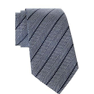 Dotted Pattern Striped Tie
