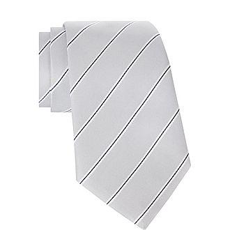 Diagonal Striped Tie
