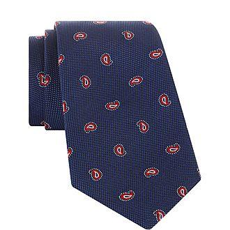 Chequered Paisley Tie