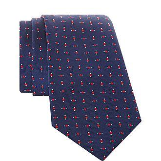 Geometric Diamond Pattern Tie