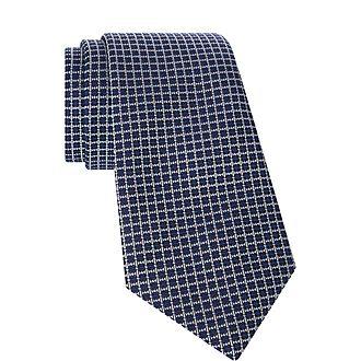 Mini Square Pattern Tie