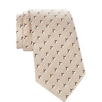 Textured Floral Tie