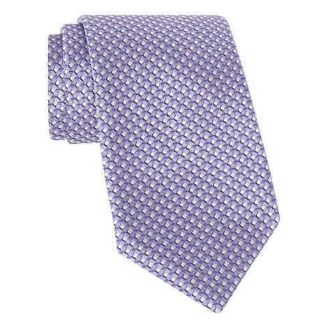 Woven Diamond Silk Tie, ${color}